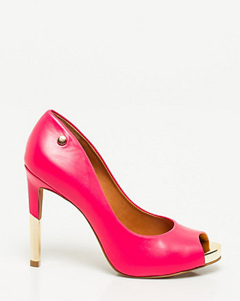 Brazilian-Made Leather Platform Pump