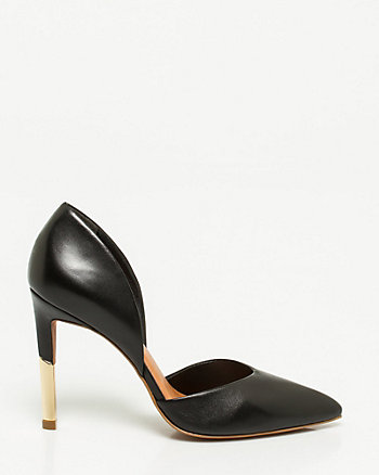 Brazilian-Made Leather d'Orsay Pump