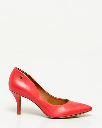 Brazilian-Made Leather Pointy Toe Pump