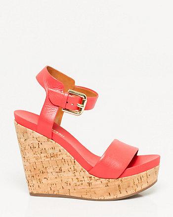 Brazilian-Made Leather Wedge Sandal