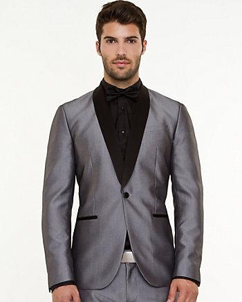 Shiny Herringbone Contemporary Fit Blazer