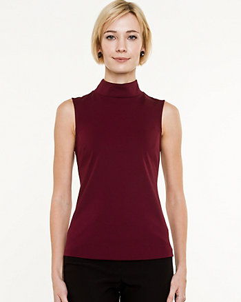 Knit Mock Neck Top