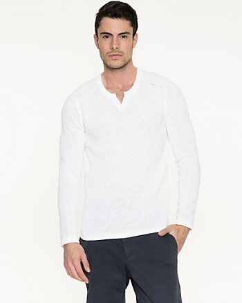 Tape Yarn Slim Fit Sweater