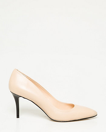 Italian-Made Leather Pointy Toe Pump