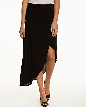 Challis Asymmetrical Wrap Skirt
