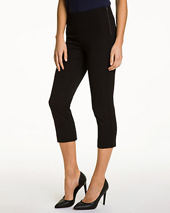 Cotton Gabardine Slim Leg Crop Pant