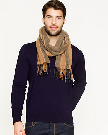 Stripe Wool Scarf