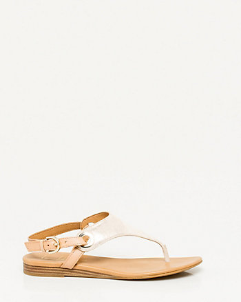 Leather Shield Thong Sandal