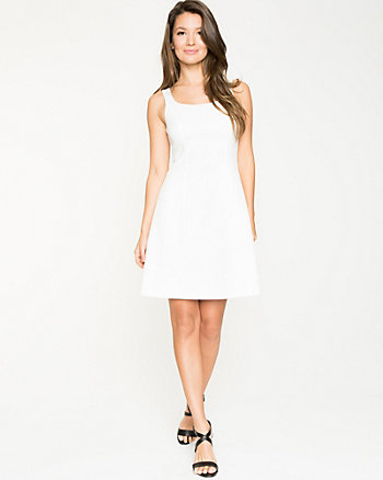 Textured Jacquard Sleeveless Dress