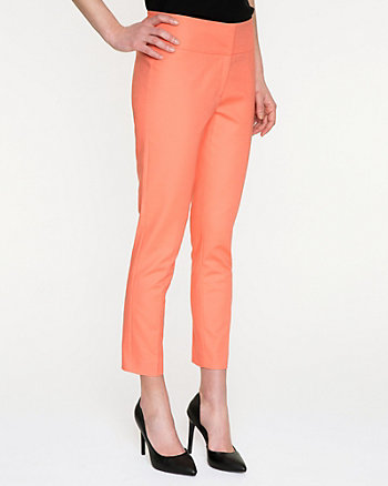 Stretch Cotton Double Slim Crop Pant