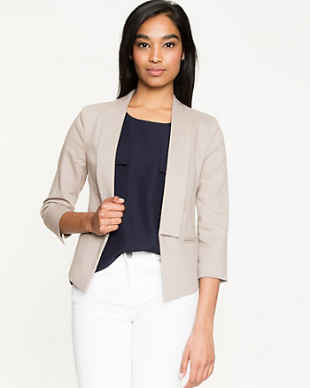 Cotton Twill Shawl Collar Blazer