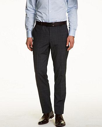 Pantalon à jambe ajustée à carreaux