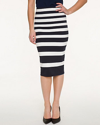 Stripe Ponte Skirt