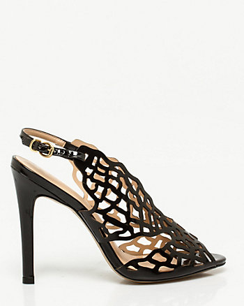 Brazilian-Made Leather-Like Cutout Sandal