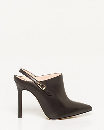 Italian-Made Leather Slingback Mule