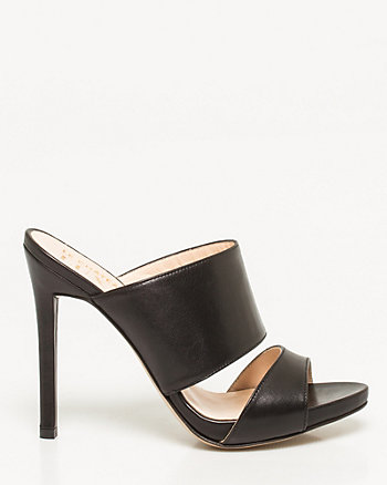 Italian-Made Leather Mule