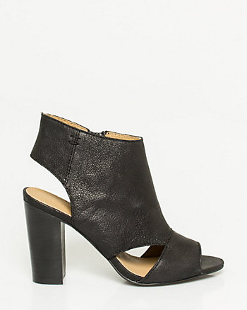 Leather Cutout Shootie