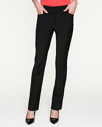 Tropical Wool Slight Flare Leg Pant