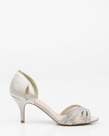 Jewel Embellished Satin d'Orsay Pump