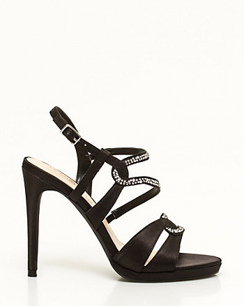Jewelled Satin Platform Sandal