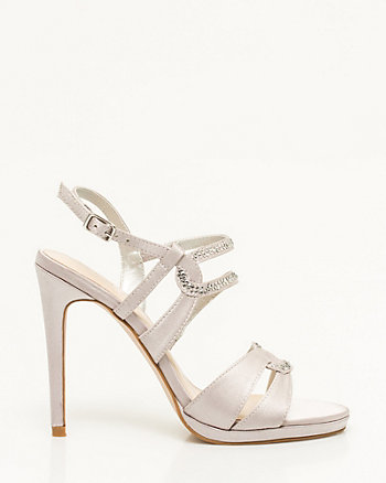 Jewelled Satin Platform Sandal