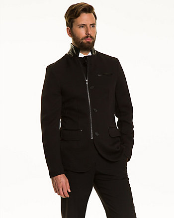 Double Knit Slim Fit Blazer