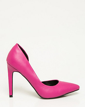 Faux Leather Half d'Orsay Pump