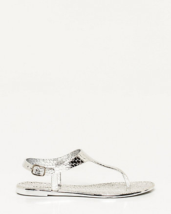 Jelly Metallic Thong Sandal