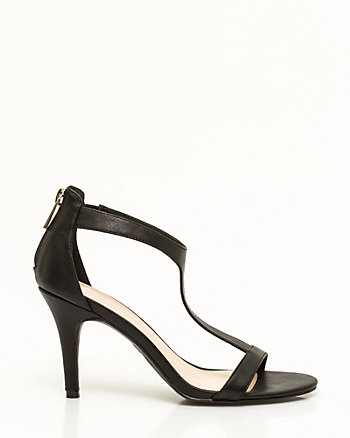Faux Leather T-Strap Sandal