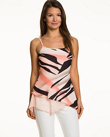 Zebra Print Crêpe de Chine Tunic