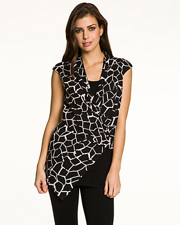 Giraffe Print Crêpe de Chine Tunic
