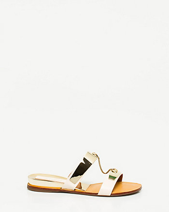Brazilian-Made Leather & Metal Sandal