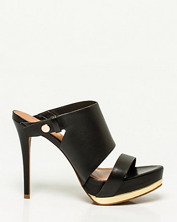 Brazilian-Made Leather Platform Mule