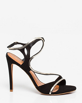 Brazilian-Made Suede Asymmetrical Sandal
