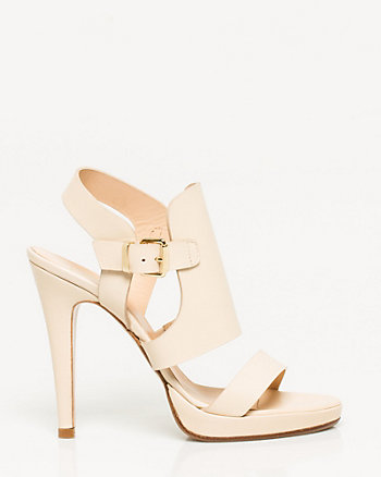 Italian-Made Leather Platform Sandal