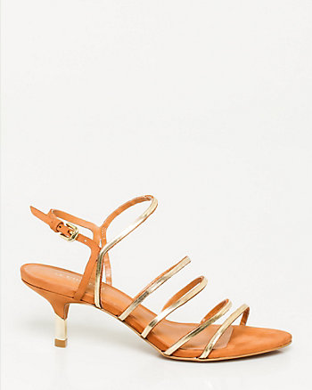 Brazilian-Made Metallic Leather Sandal