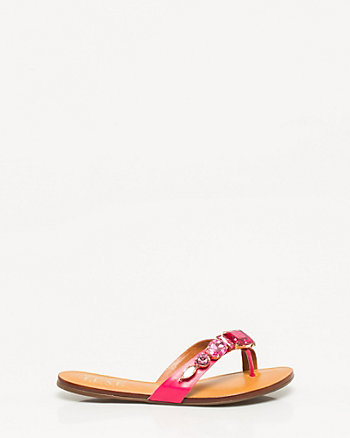 Brazilian-Made Leather Thong Sandal