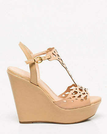 Brazilian-Made Leather-Like Wedge Sandal