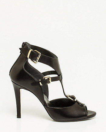 Italian-Made Leather T-Strap Sandal