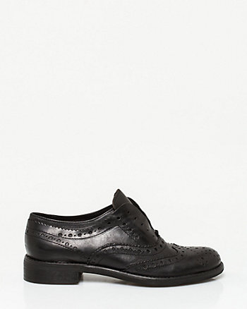 Italian-Made Leather Slip-On Oxford