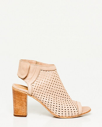 Italian-Made Leather Perforated Shootie