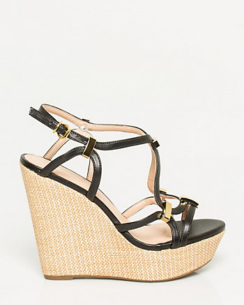 Brazilian-Made Leather-Like Wedge