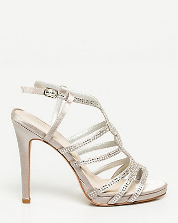 Satin & Jewel Strappy Platform Sandal