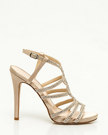 Satin & Jewel Strappy Platform Sandal