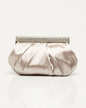 Jewelled Satin Clutch