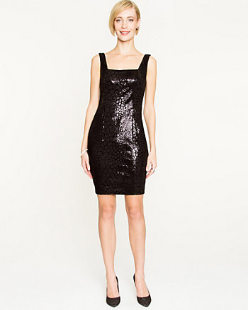Sequin Fitted Sleeveless Dress