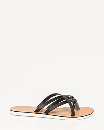 Leather-Like Criss-Cross Sandal