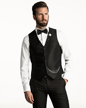 Stretch Ottoman Contemporary Fit Vest