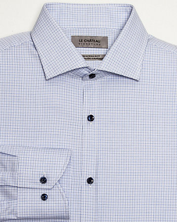 Check Twill Euro Fit Shirt