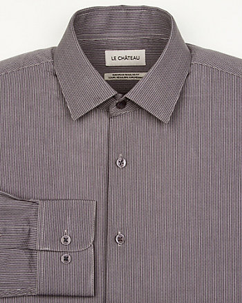 Stripe Cotton Euro Fit Shirt